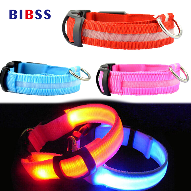 LED Night Flashing Glowing Pet Dog Collar, USB Charging Collar Luminous for Dogs Cats Dog Accessories Dog Supplies