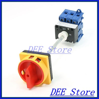 ON/OFF 2 Position Rotary Cam Changeover Switch AC600V 63A 660v ui 10a ith 1 0 2 on off on universal rotary cam changeover switch