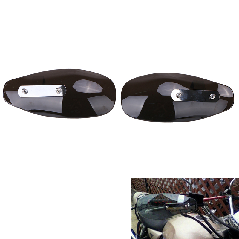 Motorcycle Hand Guard Wind Deflector Shield For Harley Yamaha Kawasaki Honda Smoke Black Universal Handlebar Windshield #MBT227