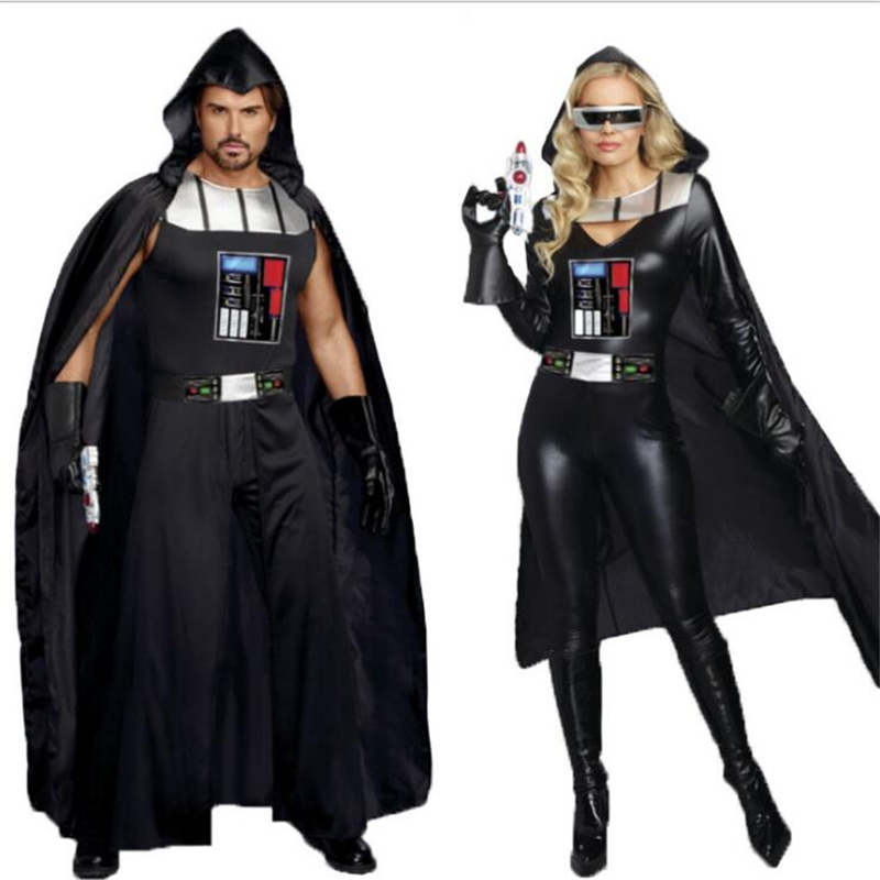 Star Wars Jedi Knight Anakin Skywalker Darth Vader Adult Cosplay Halloween Party Carnival Men Women's Clothes Suit