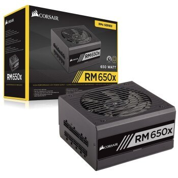 Rated RMx 650W series RM650x computer power supply