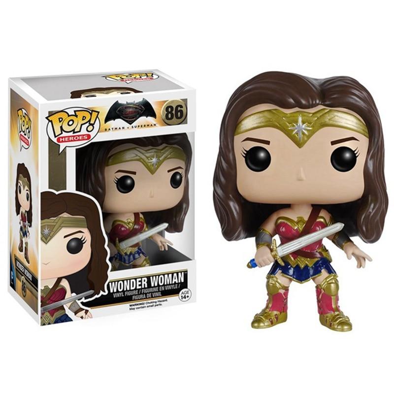 Funko <font><b>POP</b></font> <font><b>Vinyl</b></font> <font><b>Figure</b></font> DC Universe movie <font><b>Batman</b></font> VS <font><b>Superman</b></font> - Wonder Woman Super Heroes <font><b>Figure</b></font> Doll
