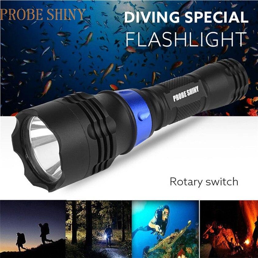 Super Unterwasser 500 mt 5000LM XM-L T6 LED Tauchen Taschenlampe Wasserdichte Taschenlampe 170126