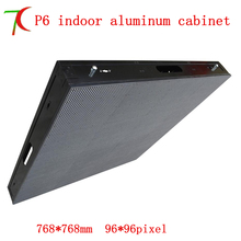Factory direct sales P6 HD  SMD full color aluminium equipment cabinet display /16scan 27777dots/m2