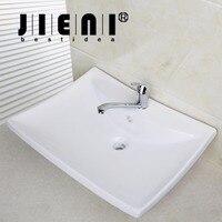 BEST Bathroom Porcelain Ceramic Vessel Vanity Sink With Pop Up DrainTD30058393 Art White Washbasin Bar