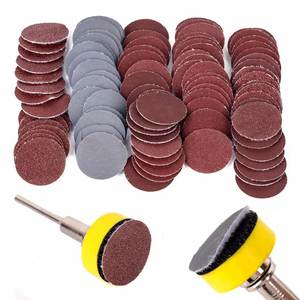 100pcs 25mm High Quality Sanding Discs + 1 Abrasives Hook & Loop Backer Plate + 18inch Shank Set For Polishing Tools