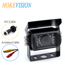 купить HOKEVISION  Car Rear View Camera waterproof Heavy Duty 18 LED IR Night Vision  rear Truck Backup Camera Bus/RV Reversing parking дешево