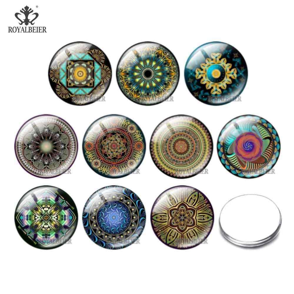 10pcs Of Exotic Style Round Photo Glass Cabochon Demo Flat Back Making Findings 12mm/16mm/18mm/25mm/30mm Accept Customization