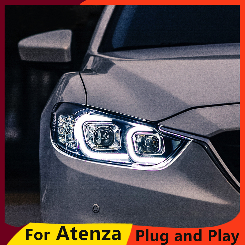 KOWELL Car Styling for Mazda 6 Headlights 2015 New Mazda6 Atenza LED Headlight Original DRL Bi