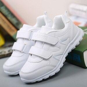 Image 4 - Jongens school schoenen meisjes sneakers kinderen witte sport schoenen ademende loopschoenen kids non slip zachte casual sneakers 25 41