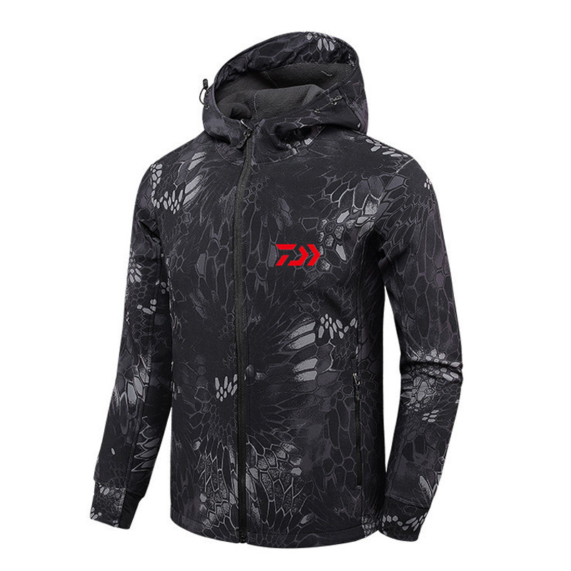 1PC 4 Colors New Men Autumn Winter Waterproof Fishing Jacket Fishing Suit Anti cold Plus Velvet