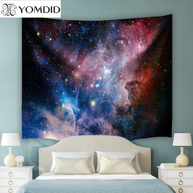 4 Size Cosmic Stars Indian Mandala Tapestry Wall Hanging Tapestries Boho Bedspread Yoga Mat Beach Towel