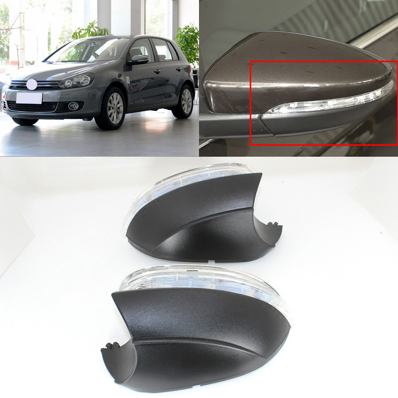 Brand New Turn Signal Light Side Mirror Assemble Indicator w/ Puffle Lamp For VW Golf 6 2010-2012