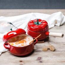 Rote Suppe töpfe Tomaten emaille pot Einzel-griff/zwei ohren topf küchenhelfer geschirr