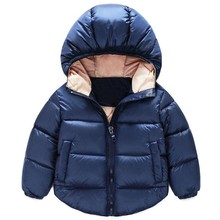 New 2017 Children Down Parkas Kids clothes Winter Thick warm Boys girls jackets & coats baby thermal liner down outerwear
