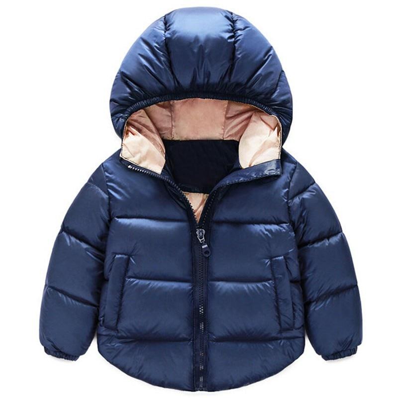 Nya 2017 Barn Down Parkas Barnkläder Vinter Tjocka varm Pojkar flickor jackor & rockar baby termisk liner ner ytterkläder