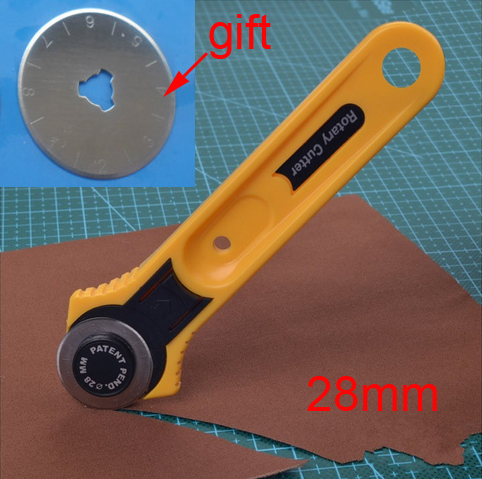 28mm Rotary Cutter Set with 1pc Blades for Fabric Paper Vinyl Circular...