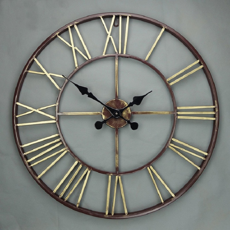 buy 57cm large wall clock saat 3d reloj duvar saati. Black Bedroom Furniture Sets. Home Design Ideas