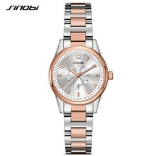 SINOBI Fashioh Women Business Wrist Watches Top Brand Date Luxury Gold Ladies Quartz Clock Female Bracelet relogio feminino 2017