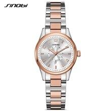 SINOBI Fashioh Women Business Wrist Watches Top Brand Date Luxury Gold Ladies Quartz Clock Female Bracelet relogio feminino 2017