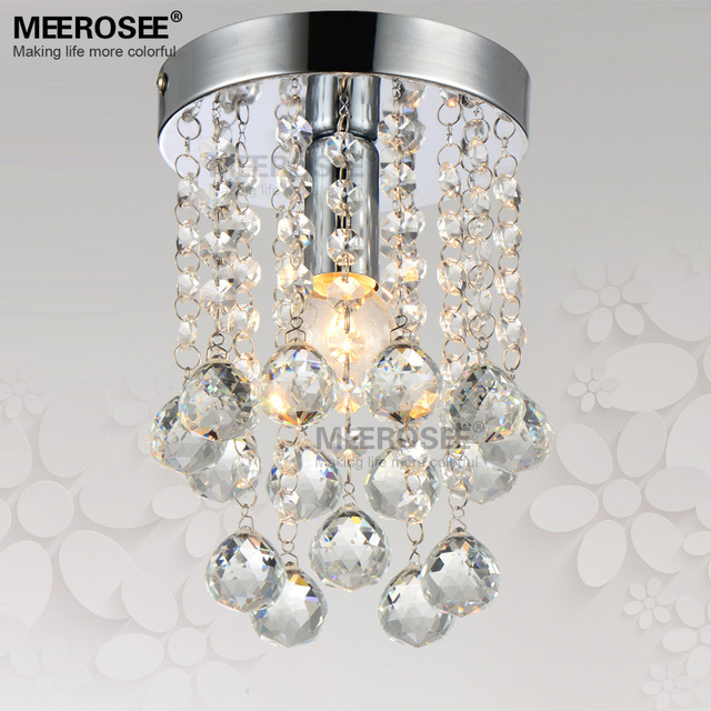 1 Light Crystal Chandelier Fixture Small Clear Re Lamp For Aisle Stair Hallway Corridor