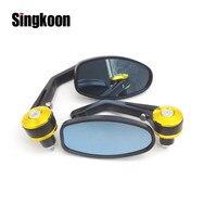 22mm Universal Motorcycle Accessories Mirrors Rearview Side Bar End Mirrors FOR aprilia shiver 750 honda cb 400 bajaj hayabusa