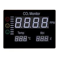 Новый ЖК дисплей цифровой углекислого газа CO2 монитор стену воздуха Температура метр RH 9999PPM Газоанализаторы Температура влажность тестер