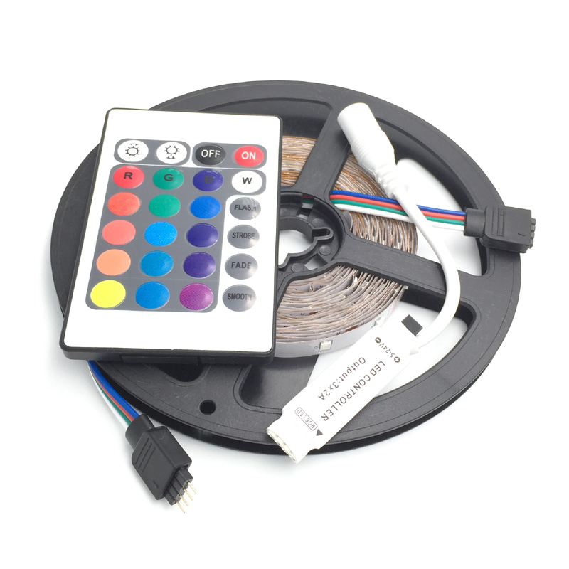 2835 RGB LED STRIP SMD 60 LED / M LED Strip Light + 24key