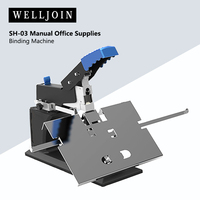 SH 03 Manual Office Supplies Bookbinding Machine A3 Saddle Stitching Stapler/ Flat Staple Binding Machine 60 Pages/80g Hot Sale