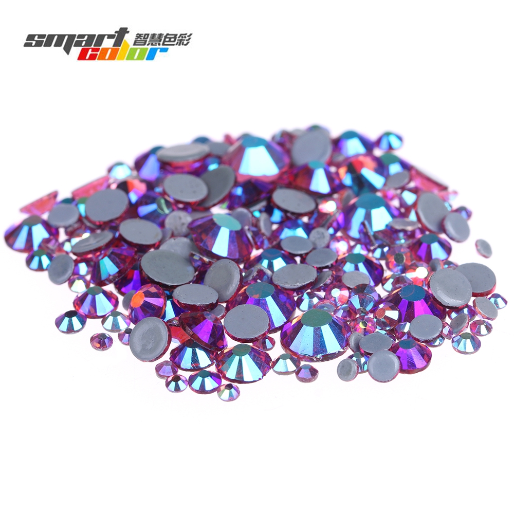 Rose AB Color Hotfix Crystal Rhinestones With Glue Backing Iron On Glass Stones For Clothes Shoes Dresses DIY Supplies 15ml b7000 multipurpose adhesive diy tool jewelry rhinestones fix touch screen phone middle frame housing glass tube glue b 7000