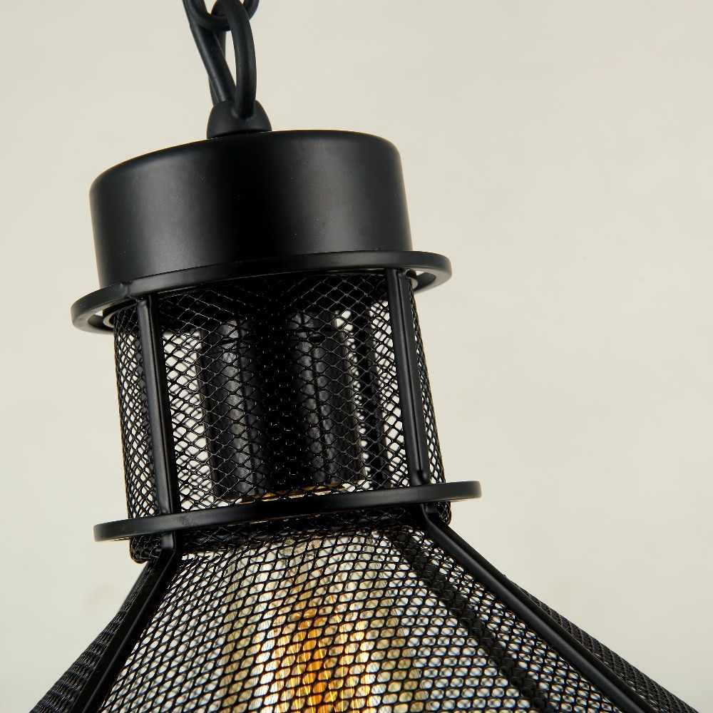 2016 Современная сеточная промышленная стойка для осветительных приборов, винтажные подвесные светильники, лампа для бара, кафе, спальни, переменный ток 110-220 В