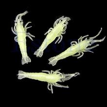 5cm Biomimetic Glow In The Dark Soft Prawn Shrimp Fishing Lure Baits