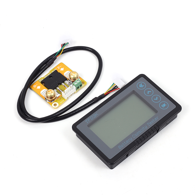 DC 10-120V 50A Battery Capacity Tester Coulometer Universal Battery Capacity Indicator TF03K-A Vehicle Battery TesterDC 10-120V 50A Battery Capacity Tester Coulometer Universal Battery Capacity Indicator TF03K-A Vehicle Battery Tester