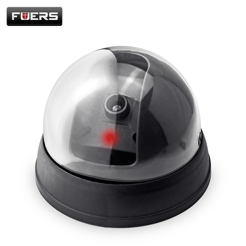 Fuers Fake Camera Home Security with Red LED Flash Simulated Camera Indoor Surveillance CCTV Black Camera Mini Dummy Dome CameraFuers Fake Camera Home Security with Red LED Flash Simulated Camera Indoor Surveillance CCTV Black Camera Mini Dummy Dome Camera