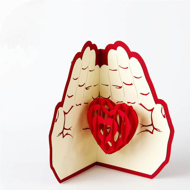 3D Pop Up Greeting Card Love Romantic Birthday Wedding Aniversary Valentines Day Invitations Cards Gifts