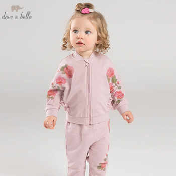 DB7125 dave bella spring infant baby girls fashion floral clothing sets children 2 pc toddler suit - DISCOUNT ITEM  50% OFF All Category