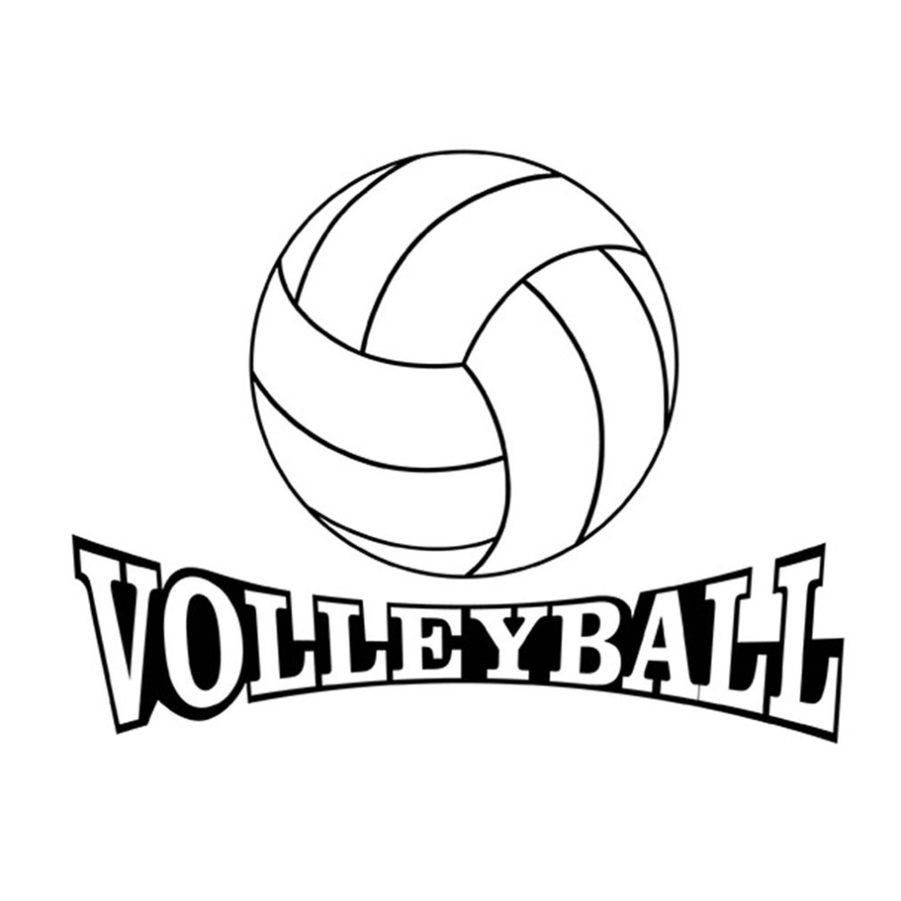 Volleyball Pattern Sports Wall Decals Stickers Removable Self-adhesive 3D Bedroom Living Room Home Wall Background Decoration