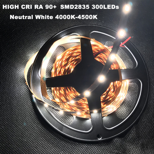 Image 4 - DIY LED U HOME yüksek CRI RA 90 + LED şerit ışıkları 2835SMD 12V DC 5M 300leds olmayan su geçirmez LED aydınlatma tatil odası mutfak