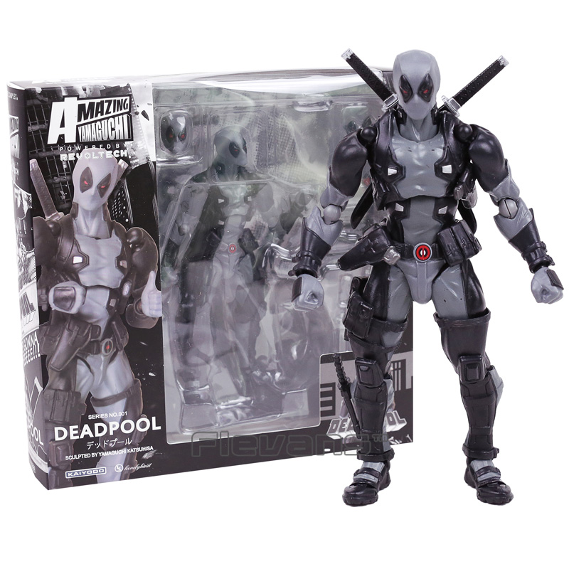 Revoltech Series NO.001 Deadpool Gray Color Ver. PVC Action Figure Collectible Model Toy 15cm трусы x file
