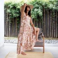 Printed Bohemian Women Summer Dress Clothes 2019 Vintage Print Maxi Beach Dresses Woman Party Hippie Long Boho Dress