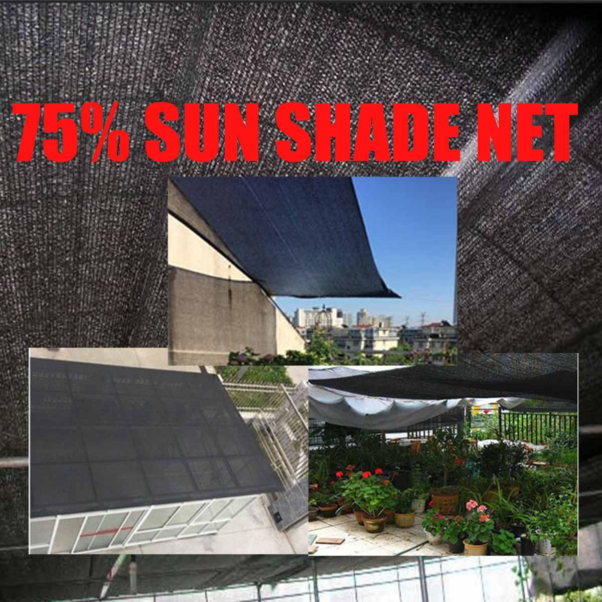 4x6 m/5x7 m universel noir soleil ombre voile Rectangle fort UV Top couverture extérieur maison jardin 75% soleil ombre Net auvent couverture nouveau