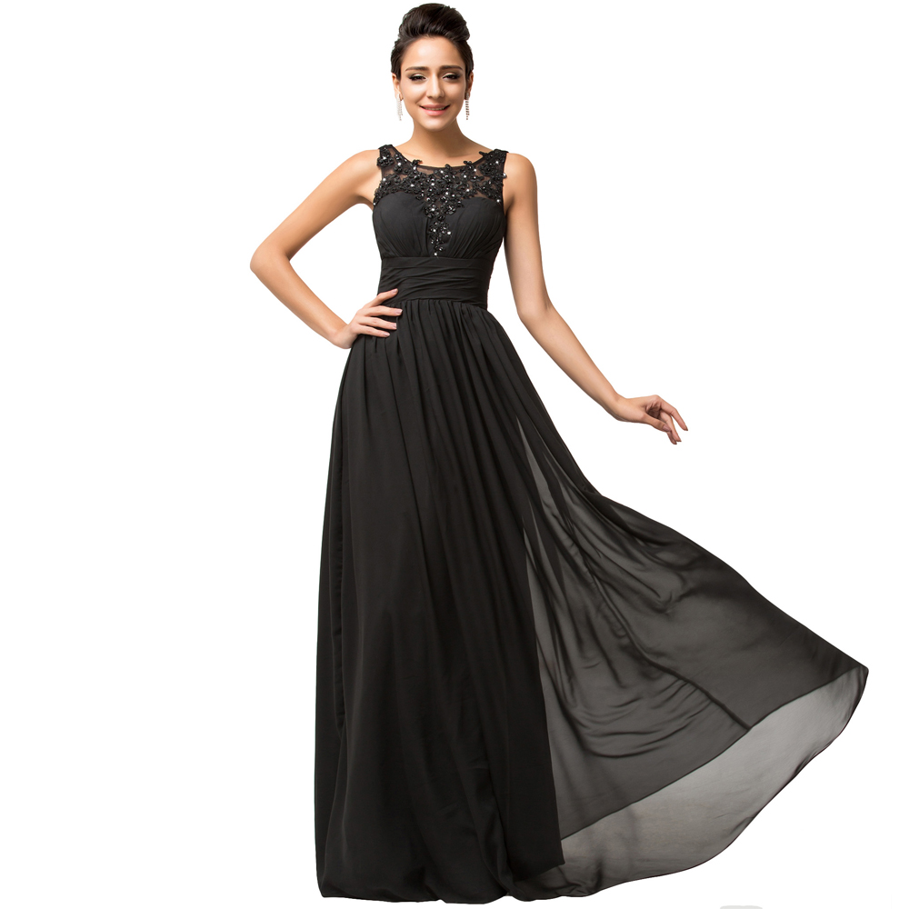 Collection Long Black Evening Dresses Pictures - Reikian