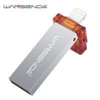 WANSENDA usbแฟลชไดรฟ์USB 2.0 IOSสำหรับiPhone 7/7 plus/6/6วินาทีพลัส/5วินาที/Ipadดิสก์u 64กิกะไบต์32กรัม16กรัมหน่วยความจำไดร...