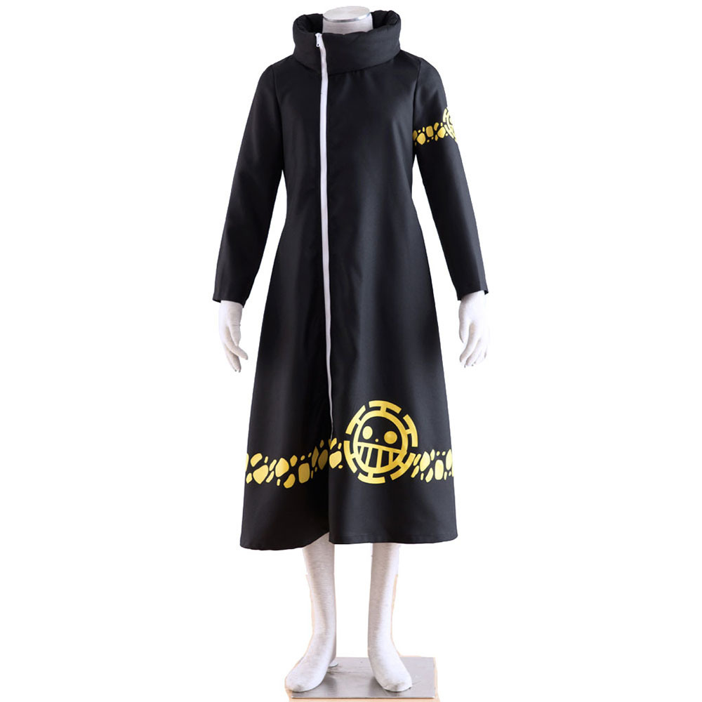 Anime One Piece Trafalgar Law Hoodie Cloak Cape Robe Hooded Long Cotton Trench Halloween Cosplay For Woman Man Costume Pluz Size