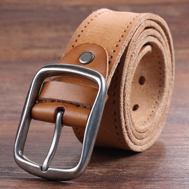 d711c5e195fb New Arrival Ceinture Homme Luxe Marque 2017 Men Belt Genuine Leather Casual  Vintage Alloy Buckle Full Grain Cow Leather Belts