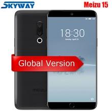 Orijinal Meizu 15 4G LTE Küresel Sürüm 4 GB 64 GB Snapdragon 660 Octa Çekirdek 5.46