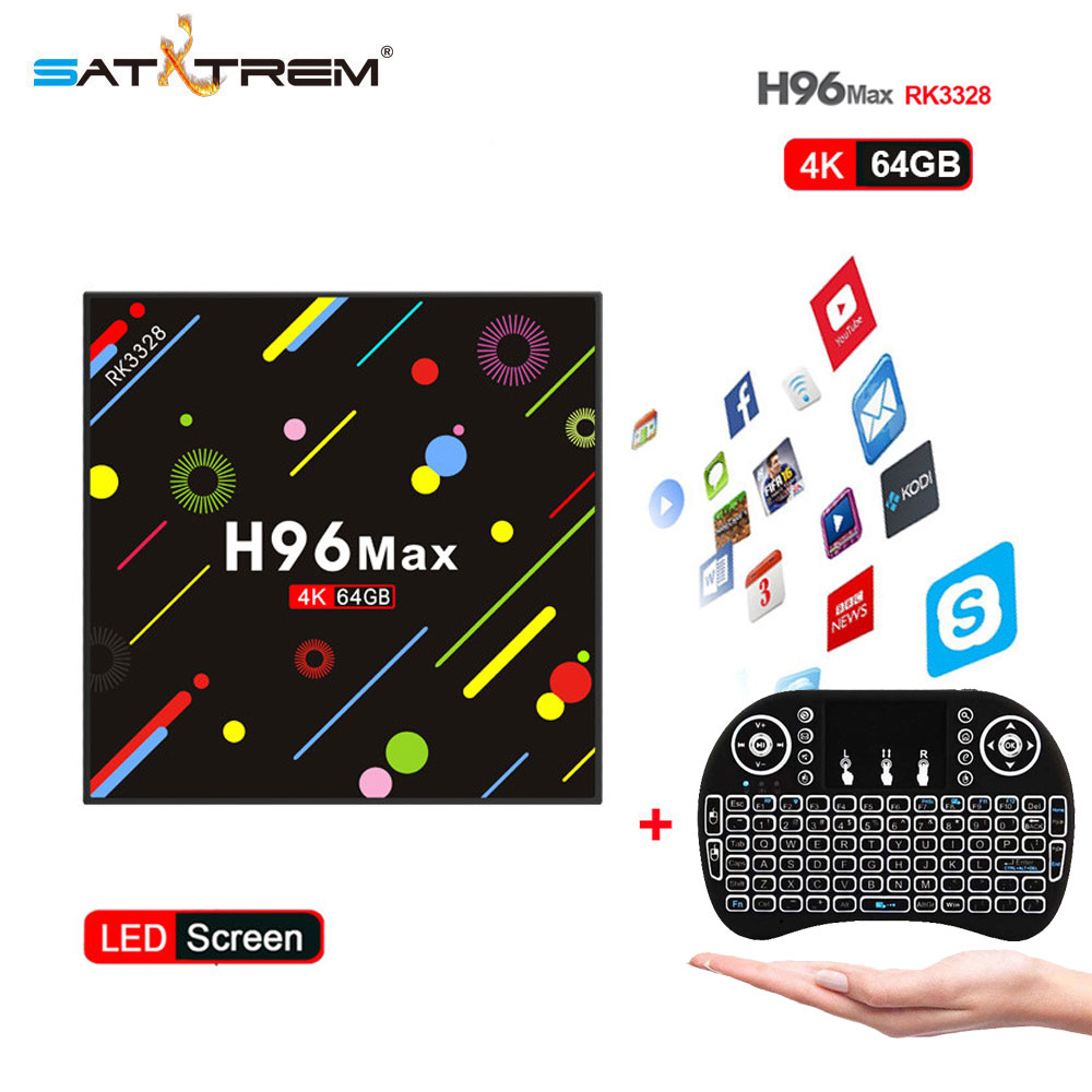 Satxtrem H96 MAX H2 Android 7.1 TV Box 4GB 64GB RK3328 Quad Core 4K VP9 HDR10 USB3.0 WiFi Bluetooth 4.0 Media Player PK X92 X96 satxtrem h96 max h2 android 7 1 tv box 4gb 64gb rk3328 quad core 4k vp9 hdr10 usb3 0 wifi bluetooth 4 0 media player pk x92 x96