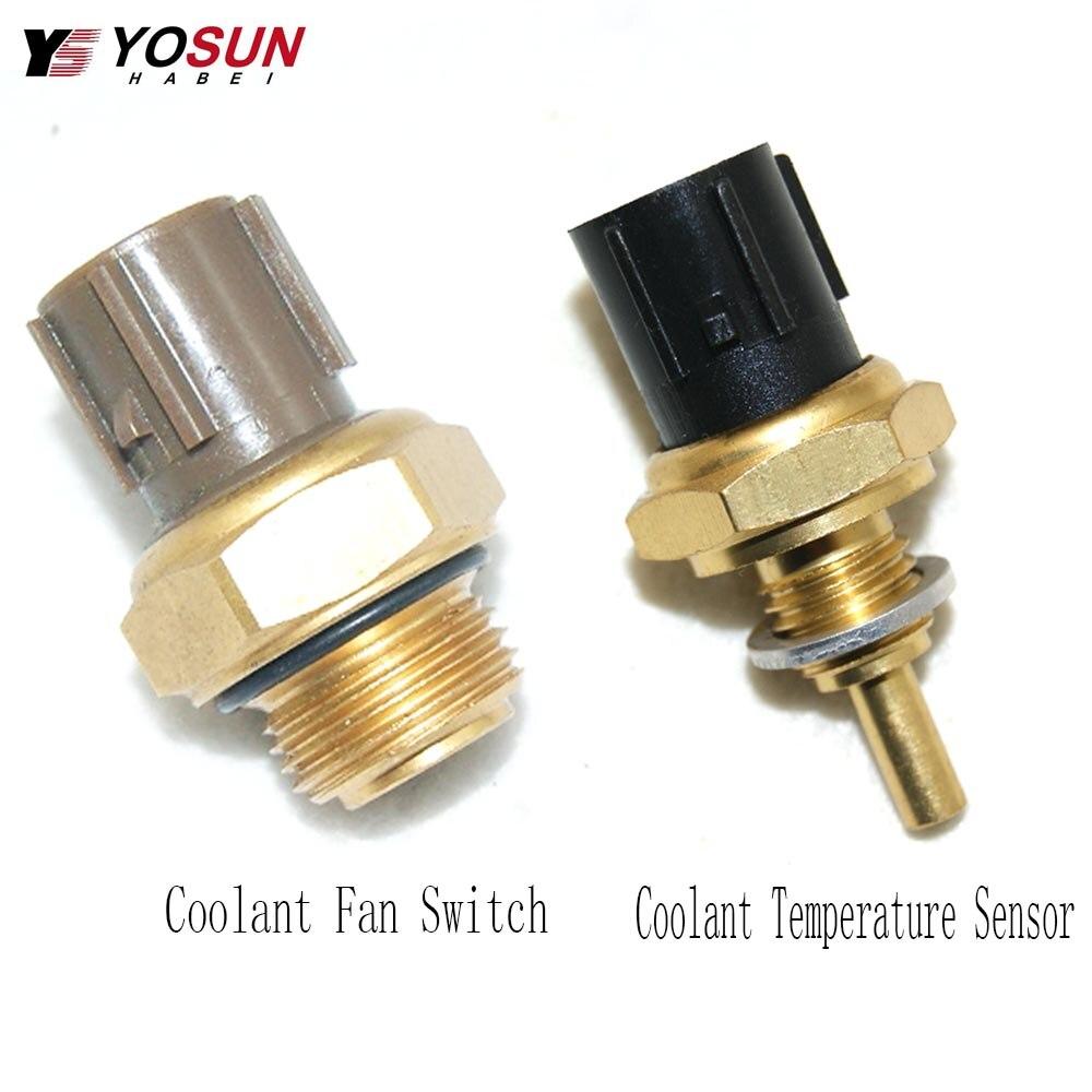 2 Set Water Temperature Sensor For Honda Accord Civic CRV