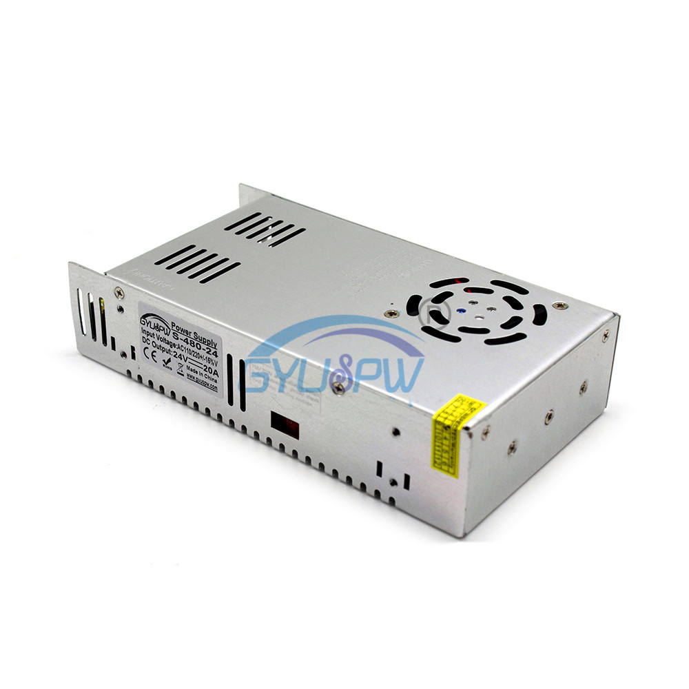 Power Supply 24V 480W 20A Ideal for 3d printer upgrade cnc machine laser cutter