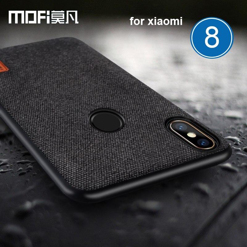 Mofi Fall für Xiaomi Mi 8 Stoff Splice Weichen Silikon-hülle Business für Xiaomi Mi8 Handytasche Luxus Rückseitige Abdeckung für Xiaomi M8